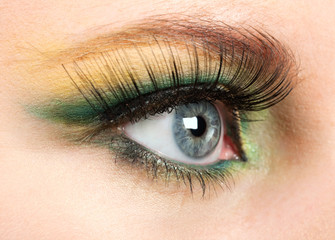 Fashion eye, long eyelashes and beautiful eye.