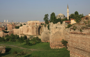 The rampart of istanbul, Turkey