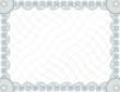 Blank guilloche certificate template
