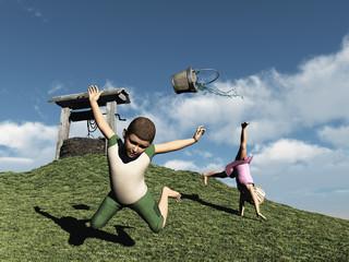 Jack and Jill falling