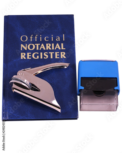 Notary Register Embosser and Stamp