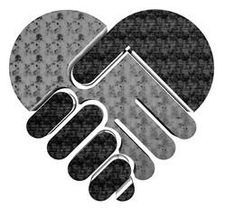 Herz-Handschlag