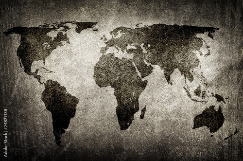 grunge world map © Eky Chan