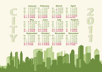 Panorama city. Calendar 2011