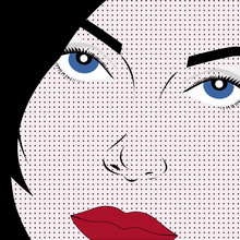 Vector Girl in Pop Art Style