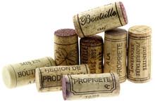 Chasset de Liège verter bouteilles de vin, fond blanc
