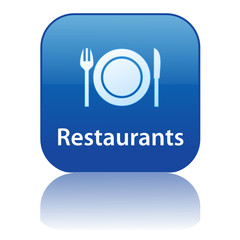RESTAURANTS Web Button (Tourism Hotel Sign Symbol Eating Out)