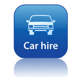 CAR HIRE Web Button (rental vehicle insurance service online) poster