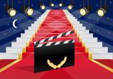 cinéma - escalier - tapis rouge - clap - réussite - succès - gloire - star - films