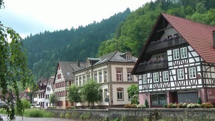 Fachwerkhäuser am Fluß in Schiltach