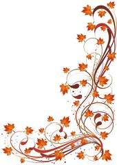 Sfondo Foglie Autunno-Autumn Leaves Background-3-Vector