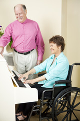 Disabled Pianist