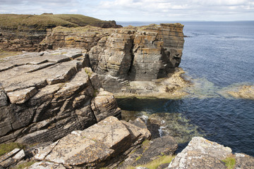 Rocks and cliffs at Orkney islands