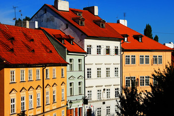 Beautiful Czech colorful houses