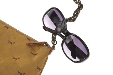Ladies Handbag with Black Sunglasses