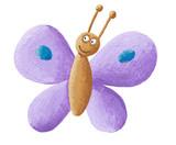 Fototapety Cute purple butterfly