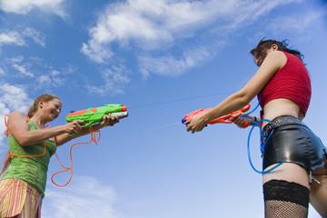 Sommerspaß Wasserpistolenduell