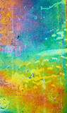 Rainbow Galvanized Metal Background. Shallow DOF. poster