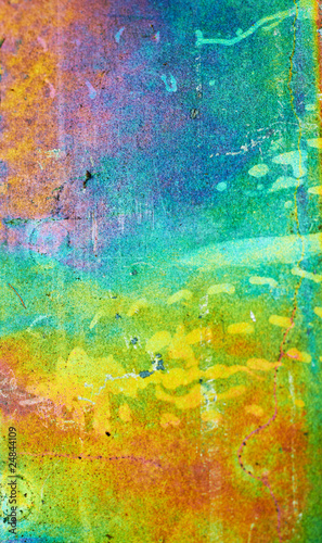 Rainbow Galvanized Metal Background. Shallow DOF.