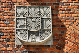 Old royal emblem in Wawel Castle. Cracow - Poland