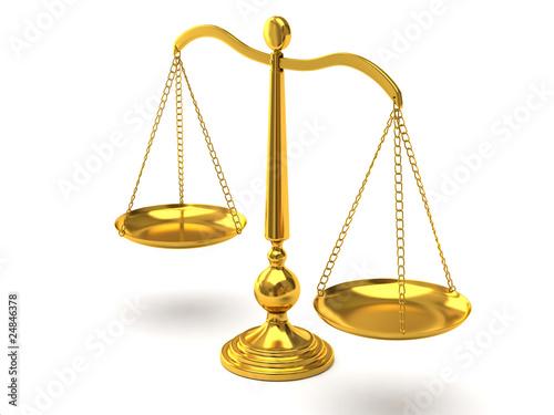 Leinwandbild Motiv Gold scales