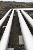 Pipes carrying geothermal energy poster