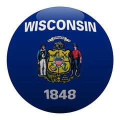 boule wisconsin ball drapeau flag