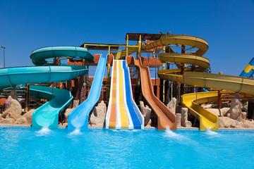 Colorful aquapark