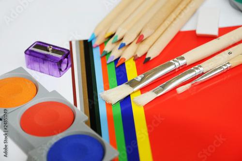 Arbeitsmaterial für die Malerei