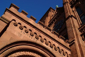 Closeup of the Smithsonian Institution Castle