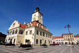 Council Square of Brasov, in Transylvania, Romania poster