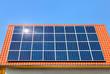 Solardach bei wolkenlosem Wetter