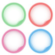 Abstract Pastel colorful aqua circles