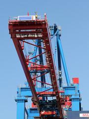 Verladekran im Containerhafen