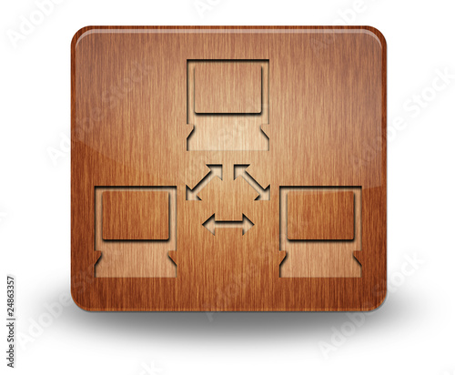 "Wooden Icon ""Computer Network"""