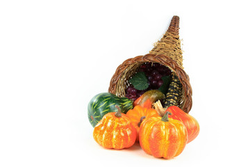 Symbols of Thanksgiving Day - horizontal orientation.