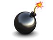 Leinwanddruck Bild - bomb