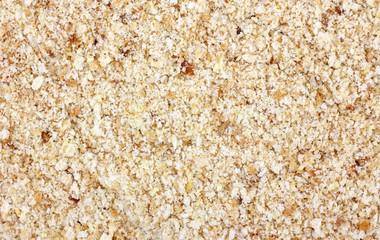 Close view of seasoned bread crumbs