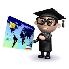 3d Graduate uses credit card