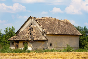 Old abandoned country house