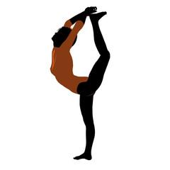 Female Gymnast Illustration Silhouette