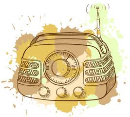 Grunge vintage radio