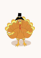 Illustration of a Thanksgiving turkey