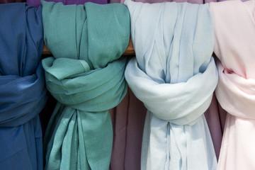 Background colorful fabrics