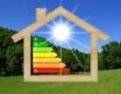 Maison bois au soleil