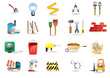 Vector set of construction and building icons