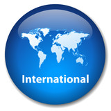 INTERNATIONAL Web Button (global world map travel worldwide go)