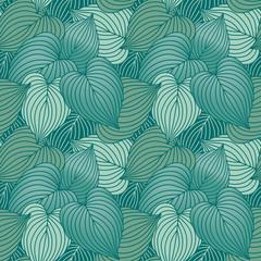 Hosta Leaf Pattern_Blue