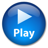 Fototapety PLAY Web Button (watch video view media player live launch icon)