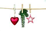 Fototapety Weihnachten Herz Stern